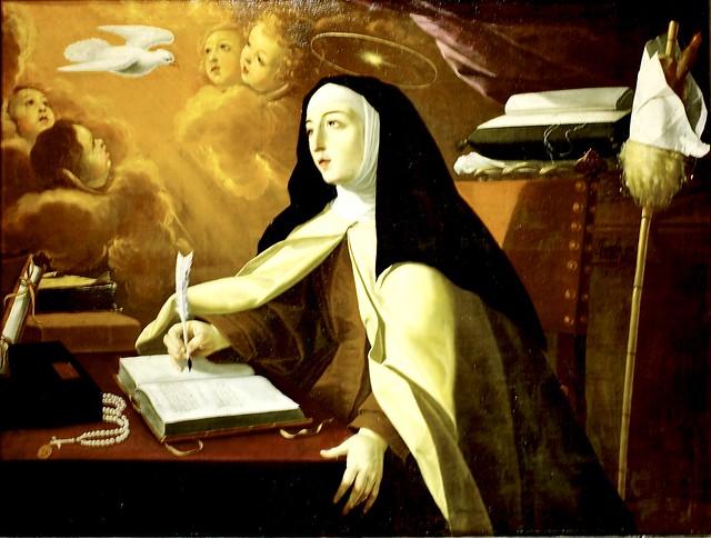 St. Teresa of Avila inspired by the Hole-Spirit (1672) - Josepha de Óbidos (1630-1684)