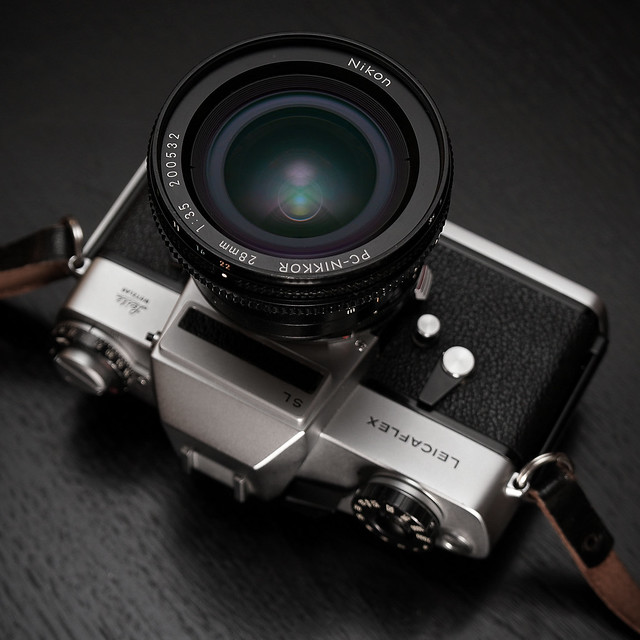 28nn Nikkor PC modified for Leicaflex