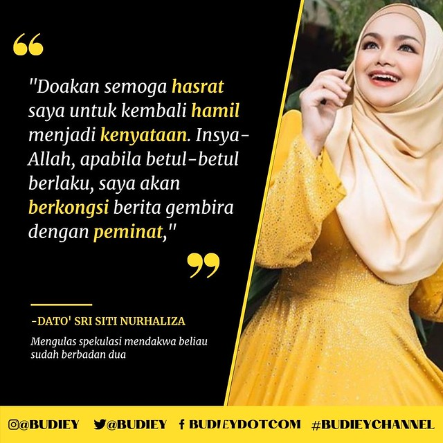 """""""Doakan Saya Hamil,"""" - Siti Nurhaliza Mohon Peminat Doakan"""