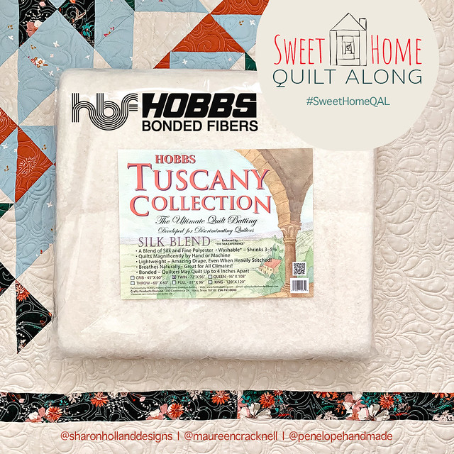 Sweet Home Sponsor - Hobbs Tuscany Batting Giveaway