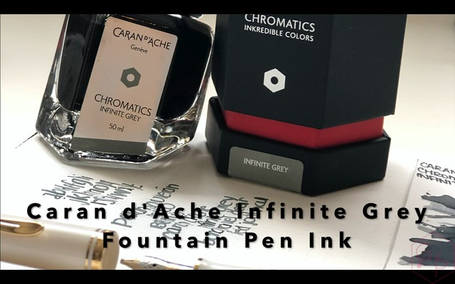 Handwriting with Caran d'Ache Infinite Grey Ink Title Card