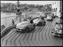 Dodgem cars, Luna Park, November 1952 _ photographed by Ivan Ives