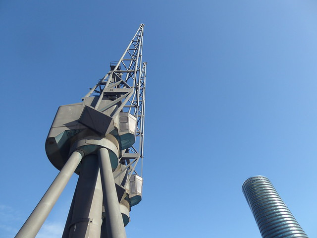 Dockside Crane and Residential Tower, Isle of Dogs, London