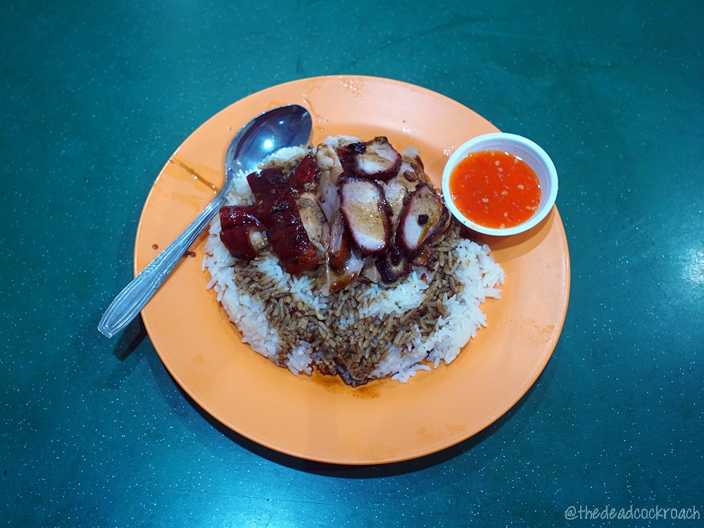 food, food review, review, singapore, taman jurong market & food centre, tien lai rice stall, 天來飯店, char siew rice,char siew,roasted duck rice,roasted duck,roast,