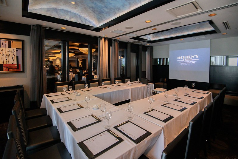 Morton's Private Dining Rooms 2&3 - Cluster Meeting Set Up