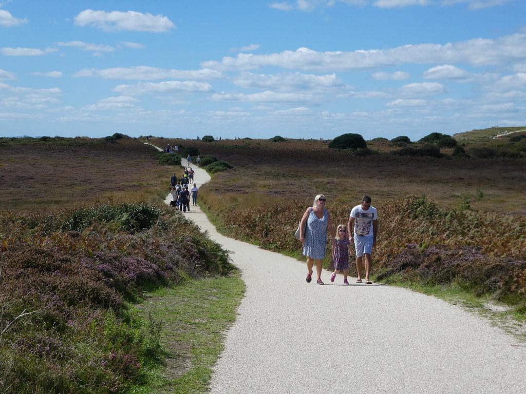 Walking over the headland at Hengistbury Head