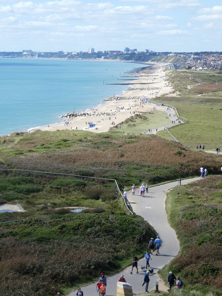 Views of Bournemouth's beaches from Hengistbury Head