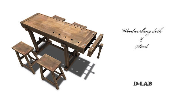 D-LAB Woodworking desk & Stool