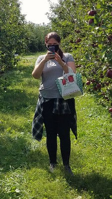 Sarah at the Apple Orchard