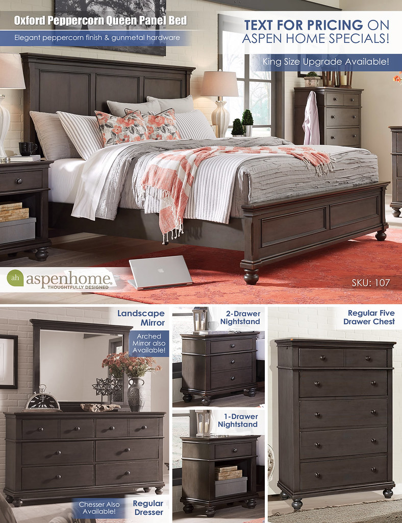Oxford Peppercorn Queen Bed_TextForPricing_107