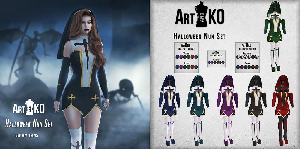 Art&Ko - Halloween Nun Set - UniK