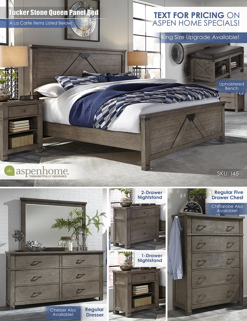 Tucker Stone Queen Panel Bed_Layout_I45_No Price