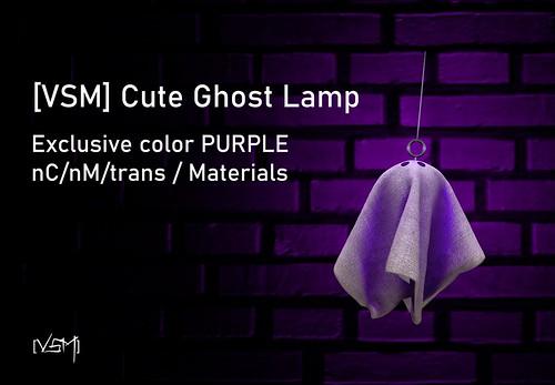 [VSM] Cute Ghost Lamp - PURPLE - SWANK HUNTGIFT