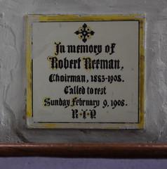 encaustic tile memorial: choirman