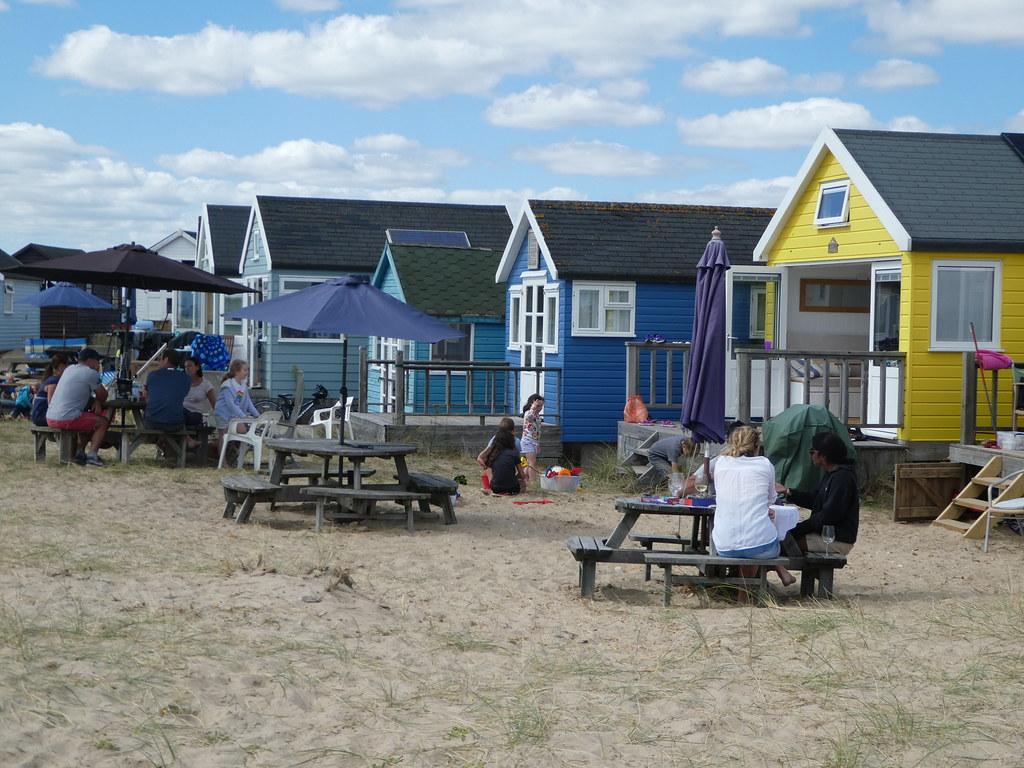 Beach huts at Hengistbury Head