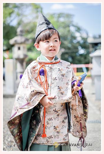七五三 衣装:水干と烏帽子 5才の男の子