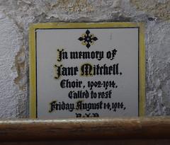encaustic memorial tile: choir 1902-1914