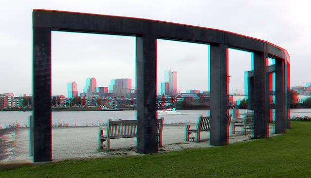 Rotterdam vanaf de Esch 3D