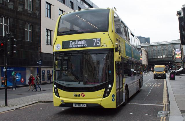 First Glasgow Alexander Dennis Enviro 400 MMC 33219HB