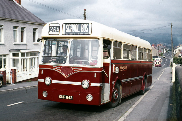 Rees & Williams . Tycroes , South Wales . OUF643 . Tycroes , South Wales . Thursday afternoon 02nd-September-1971 .