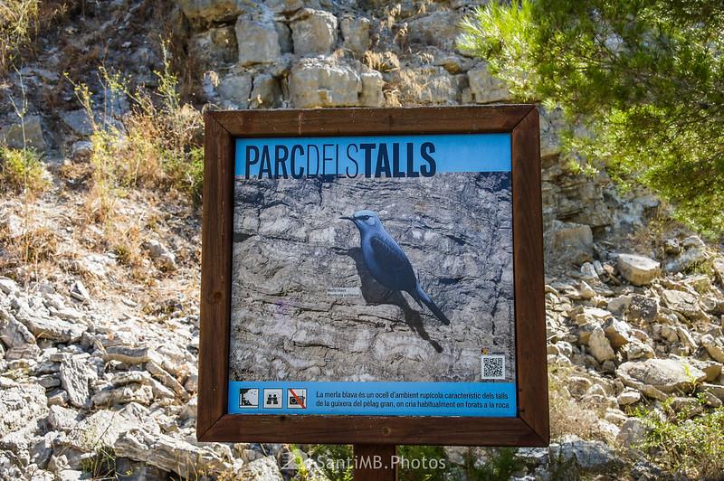 Panel informativo del Parc dels Talls de camino al mirador inferior del Pèlag Gran