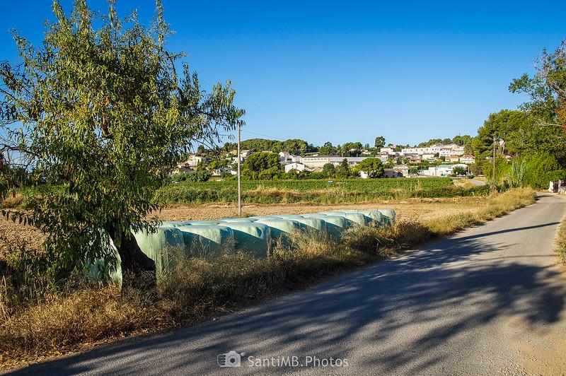 Vilobí del Penedès desde el barrio de La Font