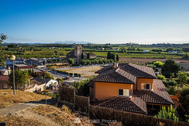 Vistas desde el casco antiguo de Vilobí del Penedès