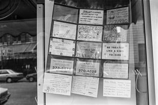 Small Ads, Harrington Rd, South Kensington, Kensington & Chelsea, 1988 88-4q-42-positive_2400