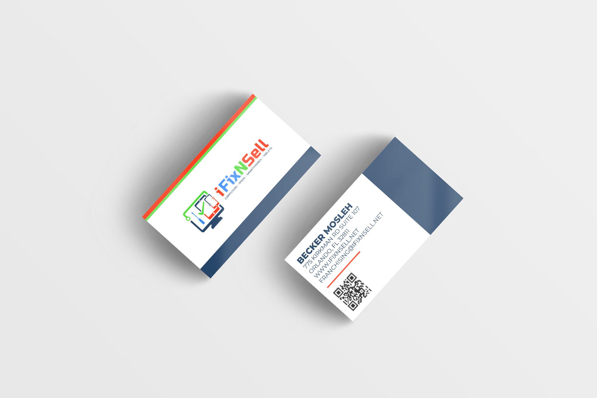 iFixNSell Business Card Design Tuyen Chau