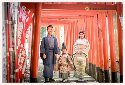 生玉稲荷神社で七五三(名古屋市守山区) 家族写真