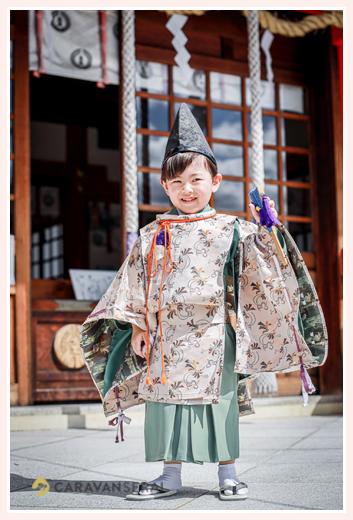 七五三 服装:水干を着た男の子