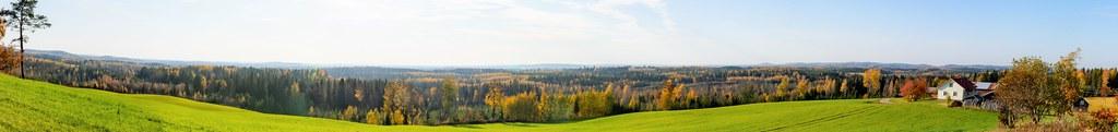 Muuruvesi; Lassilan peltoharju 2.10.2020; panoraama 2