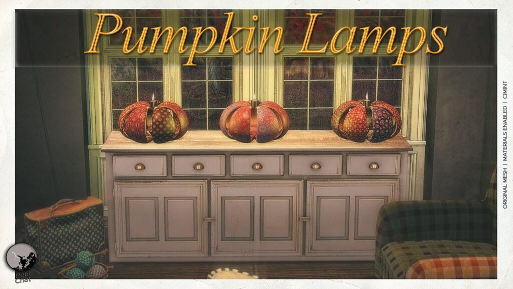 New release : Pumpkin Lamps