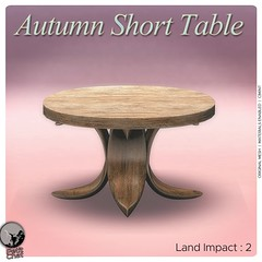 New release : Autumn Short Table