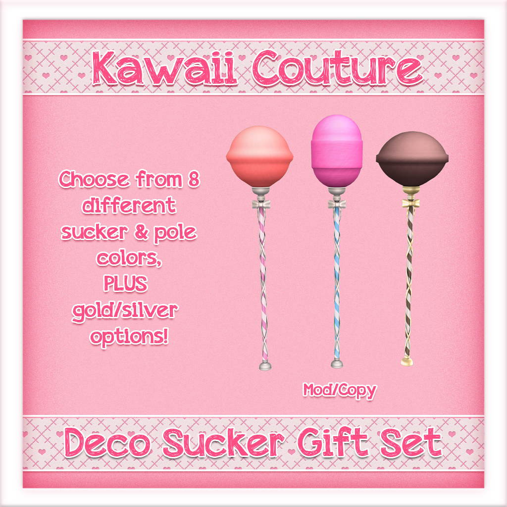 Kawaii Couture Deco Sucker Gift Set