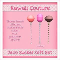 Kawaii Couture Deco Sucker Gift Set