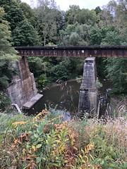Railroad bridge, Norwalk Section (4-9) of the Buckeye Trail in Ohio