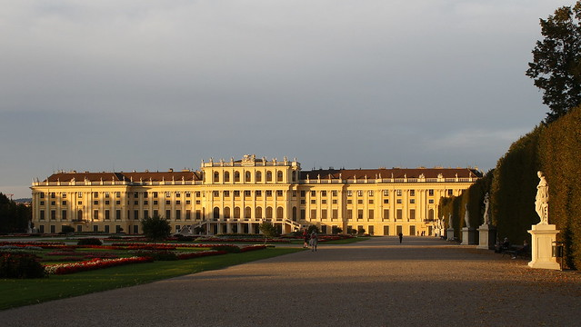 Schönbrunn Palace in the Evening Sun