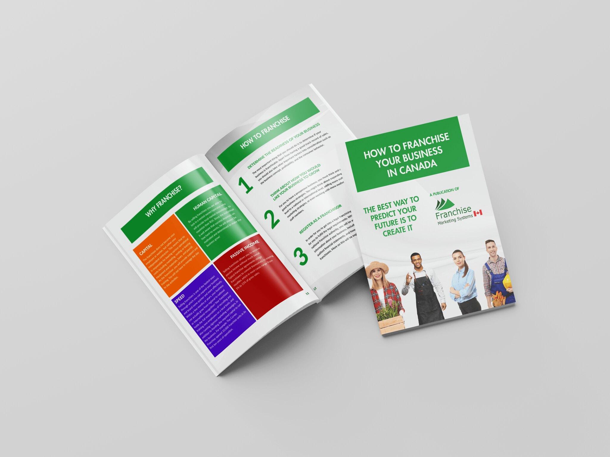 Franchise Marketing Systems Canada FMS CA FMS Canada Bifold Brochure Design Tuyen Chau