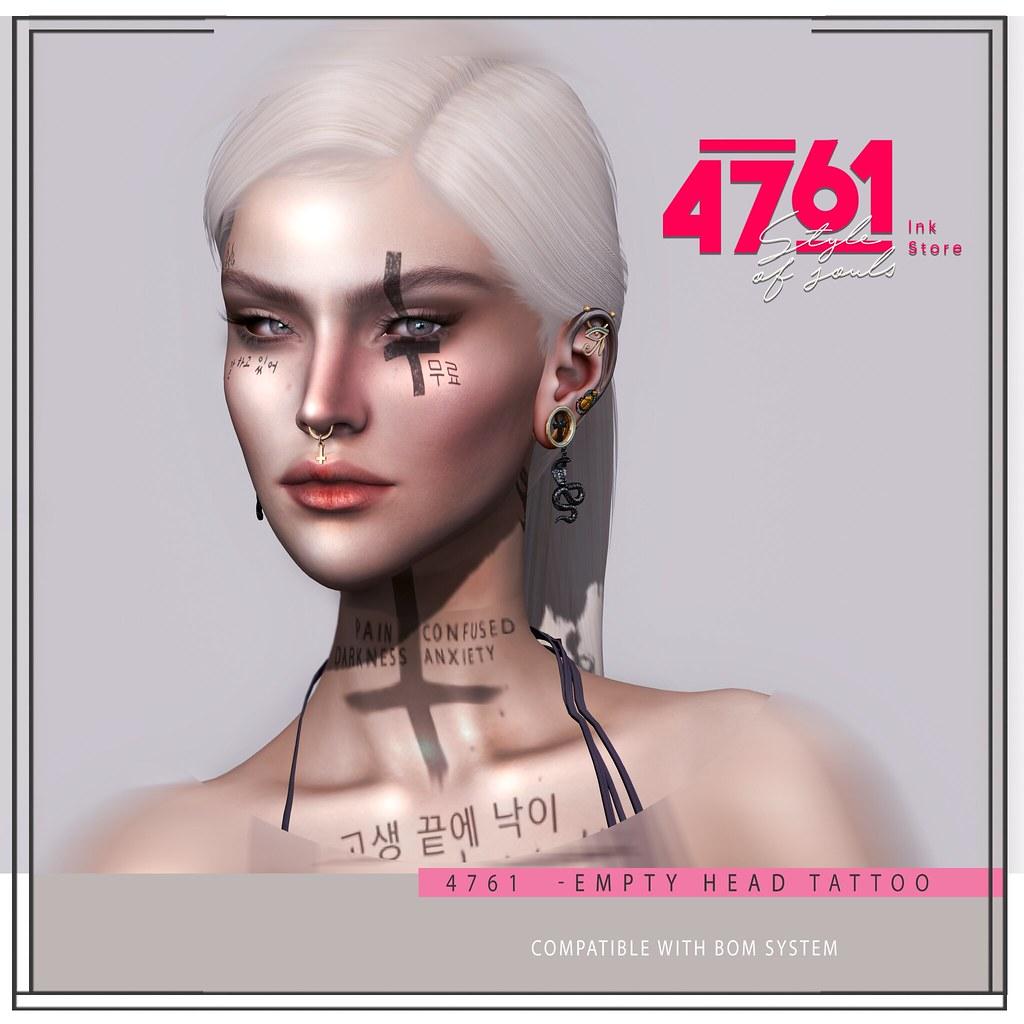 4761 – Empty Head Tattoo