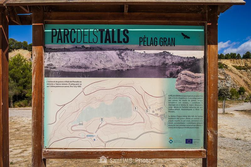 Panel informativo del Pèlag Gran en el Parc dels Talls