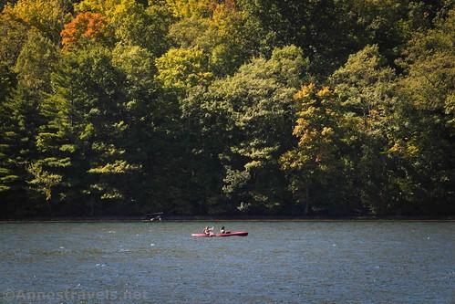 A canoe on Canadice Lake, New York