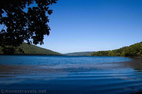 Views toward the north across Canadice Lake, New York