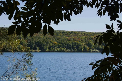 Autumn colors across Canadice Lake, New York