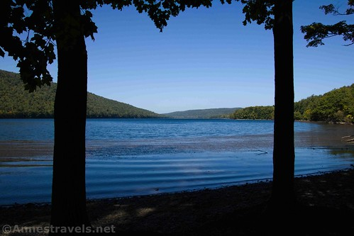 The beach on the eastern shore of Canadice Lake, New York