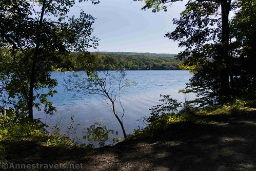 An early peek-a-boo view over Canadice Lake, New York