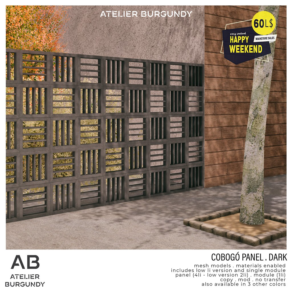 Atelier Burgundy . Cobogo Dark