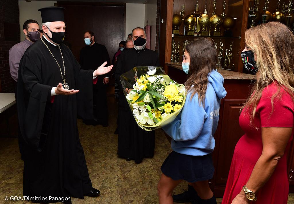Archbishop visits Spyropoulos School and Greek American Institute, October 2, 2020