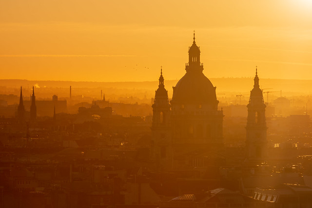St. Stephen's Basilica at daybreak