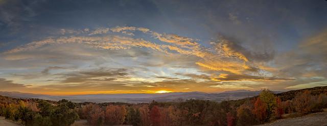 Fall Sunset Panorama